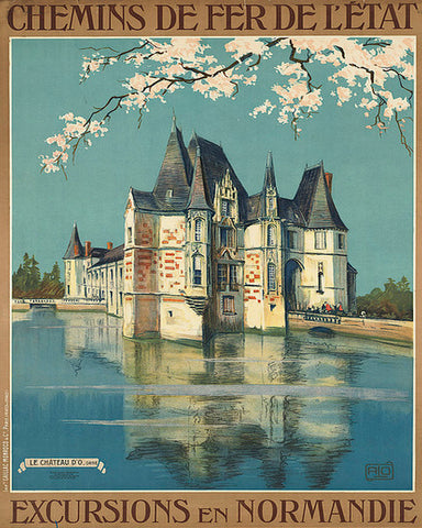 Normandy France Print Vintage Travel Poster Art - OnTrendAndFab