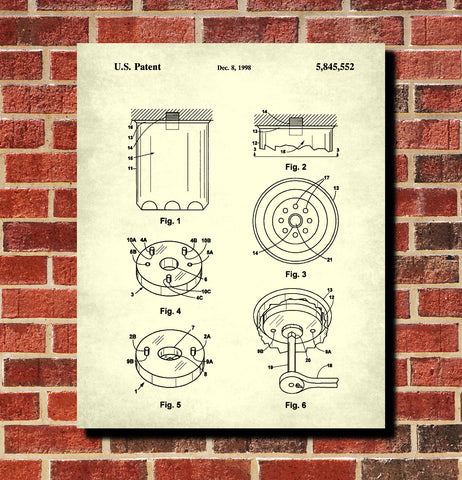 Oil Filter Patent Print Garage Blueprint Workshop Poster