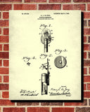 Opthalmoscope Blueprint Eye Doctor Patent Print Optician Poster - OnTrendAndFab