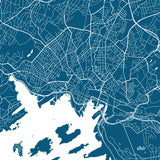 Oslo City Street Map Print Modern Art Poster Home Decor - OnTrendAndFab