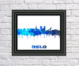Oslo City Skyline Print Wall Art Poster Norway - OnTrendAndFab
