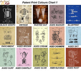 patent prints colour choices set 1