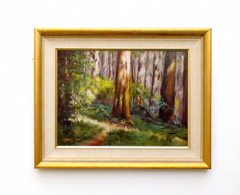 Australian Painting Vintage Oil Painting Signed Framed Sherbrook Trail Forest