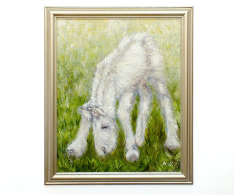 Horse Painting Equestrian Decor Original Oil Painting Foal Grazing