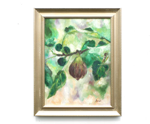 Fig Tree Framed Oil Painting Andi Lucas