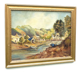 Helford Passage Cornwall Beach Landscape Vintage Oil Painting