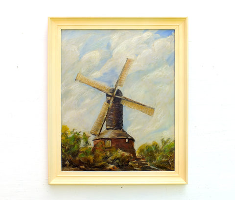 Windmill Oil Painting Old Mill Bell Hill Billericay Signed Framed