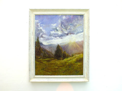 Tyrolean Sunrise Austrian Landscape Oil Painting by Andi Lucas