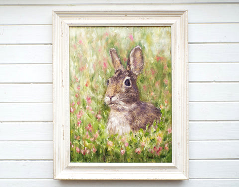 Hare Original Framed Wildlife Painting by Andi Lucas