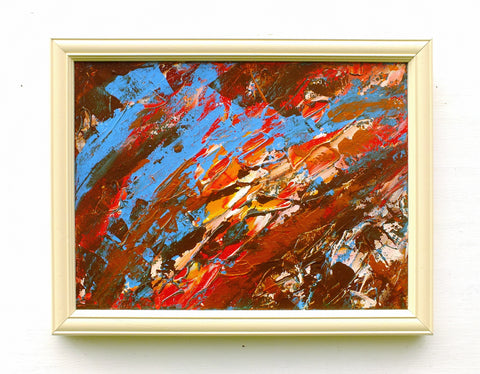 Abstract Storm Painting Original Wall Art Framed Signed