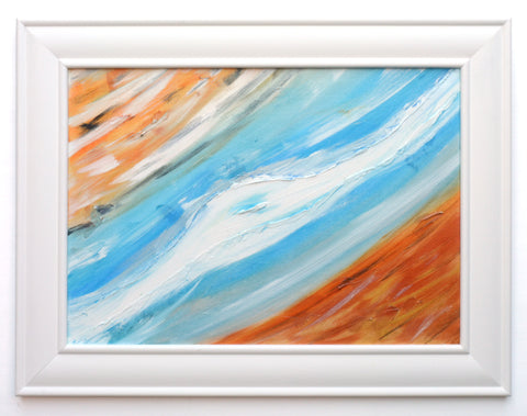 James Lucas, Passing Through Framed Abstract Painting