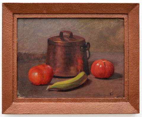 Antique French Still Life Oil Painting Signed Framed Original, GalleryThane.com