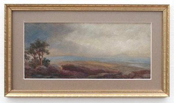 Northumberland Moors English Country Miniature Landscape Oil Painting