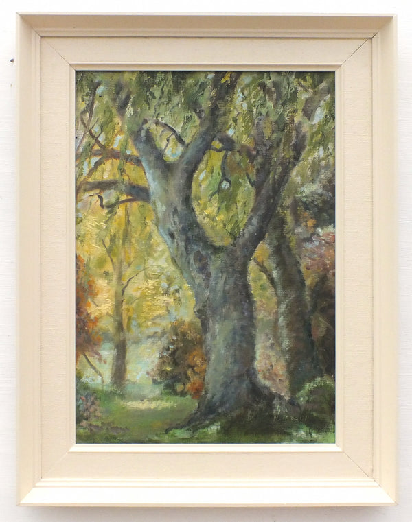 Sherwood Forest English Landscape Woodland Vintage Oil Painting Framed Signed