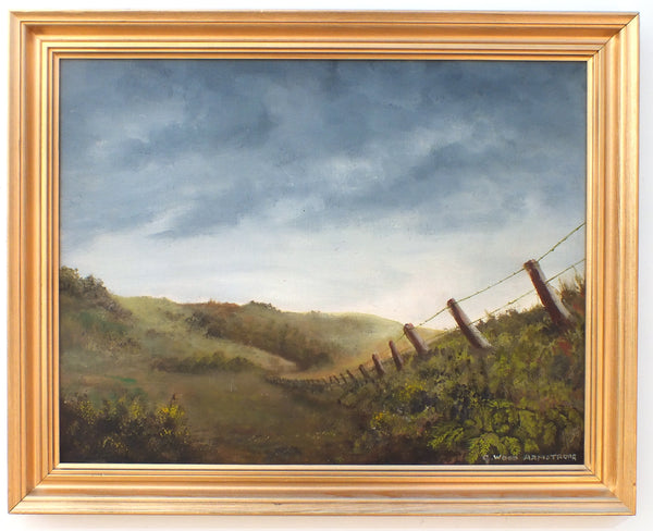 English Landscape Exmoor Farming Oil Painting Framed Original Vintage Signed