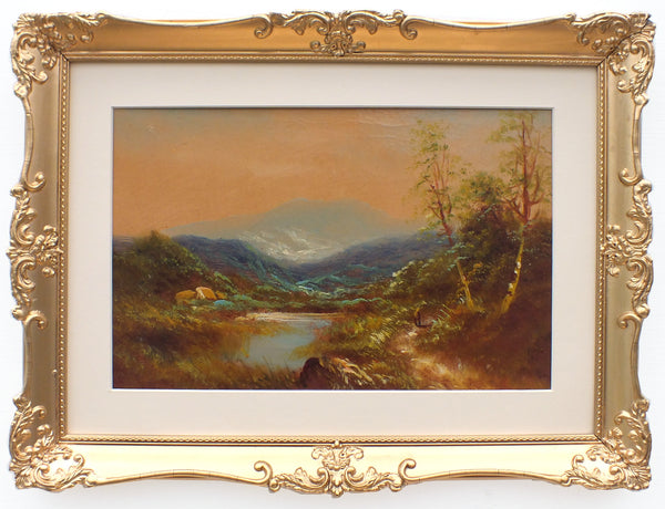 Cumbria Mountain Landscape Oil Painting Framed