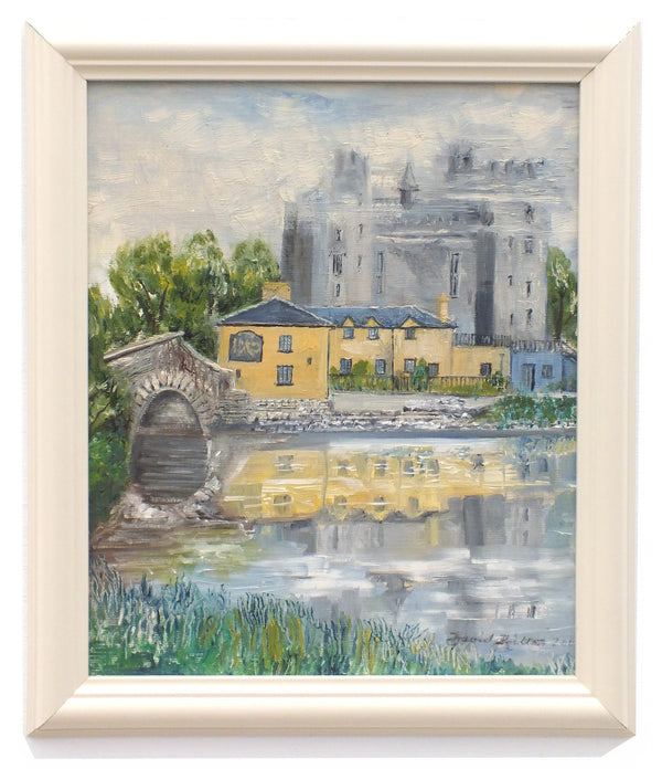 Bunratty Castle Irish Landscape Vintage Oil Painting Signed Framed
