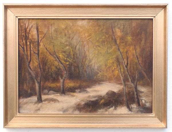 English Landscape Exmoor Oil Painting Horner Wood Forest Scene Signed Framed