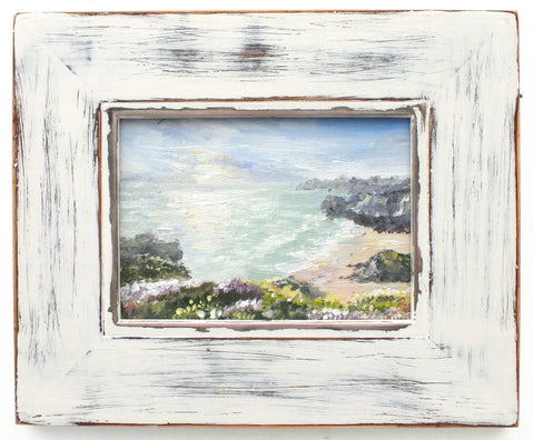 Cornish Coastal Landscape Beach Painting by Andi Lucas - GalleryThane.com