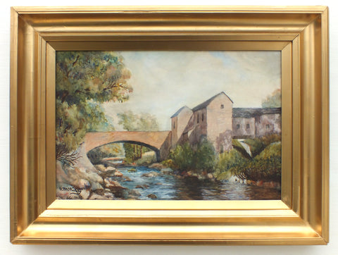 Scottish Landscape Oil Painting Dripps Mill, Waterfoot, Framed - GalleryThane.com