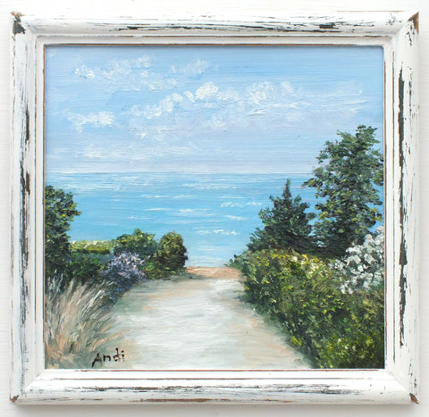 Cornwall Fistral Beach Path Painting by Andi Lucas