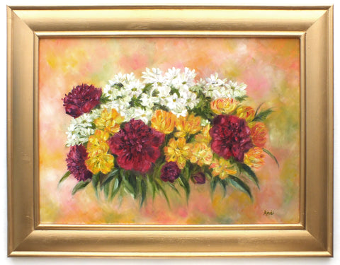 Flower Paintings, Still Life Oil Painting Signed Framed Original Andi Lucas