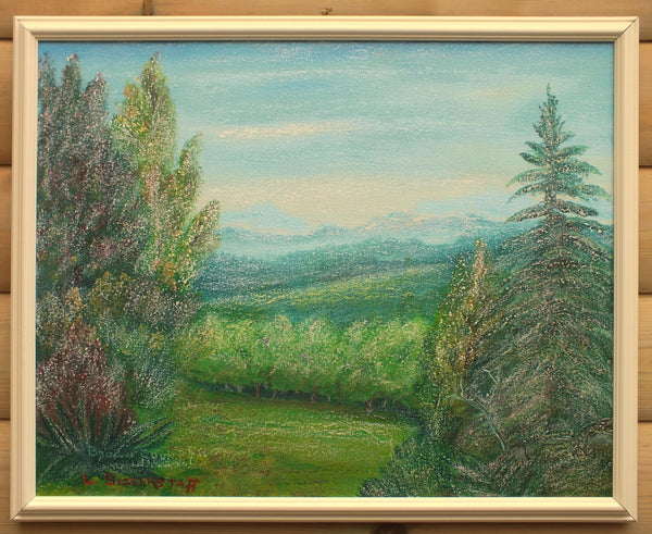 Indiana Landscape, Brown County, Vintage Oil Painting Signed Framed Original Art
