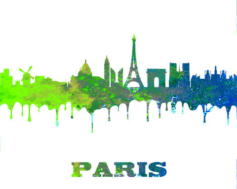 Paris City Skyline Print Wall Art Poster France - OnTrendAndFab