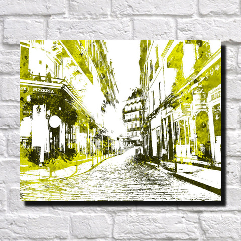 Paris Street Scene Print City Landscape Poster Feature Wall Art