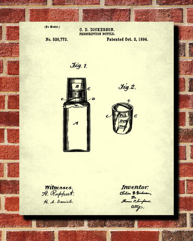 Pharmacy Patent Print Apothecary Wall Art Poster - OnTrendAndFab