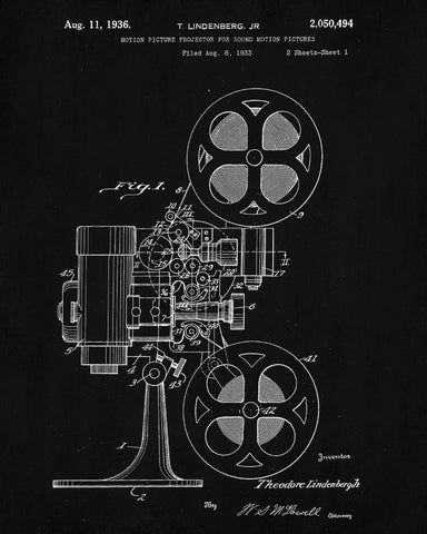 Film projector patent print cine blueprint movies poster ontrendandfab film projector patent print cine blueprint movies poster malvernweather Gallery