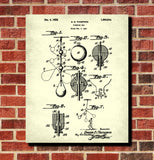 Boxing Poster, Punch Bag Patent Print Sports Wall Art