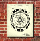 Radial Engine Patent Print Aircraft Blueprint Art Poster