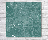 Raleigh City Street Map Print Custom Wall Map - OnTrendAndFab