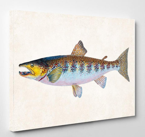 River Trout Fishing Print, Angling Wall Art 0585