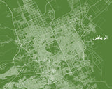 Riyadh City Street Map Print Modern Art Poster Home Decor - OnTrendAndFab
