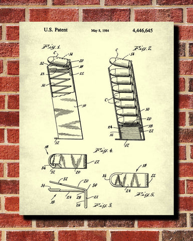 Ruger Magazine Cartridge Blueprint Gun Patent Print Firearm Poster - OnTrendAndFab