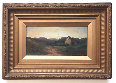 English Landscape Oil Painting Framed