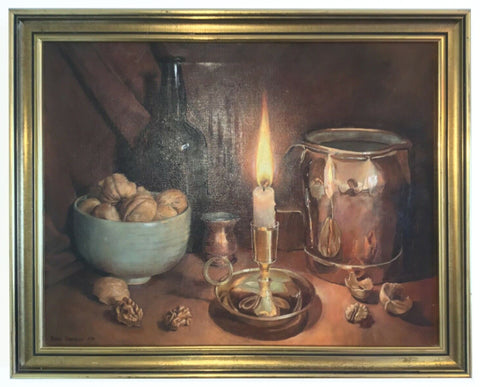 Still Life Oil Painting Signed Framed Original