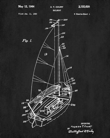 Sailboat blueprint art nautical patent print sailing poster sailboat blueprint art nautical patent print sailing poster malvernweather