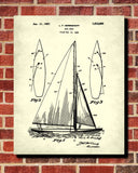 Sail Boat Blueprint Art Nautical Patent Print Sailing Poster - OnTrendAndFab