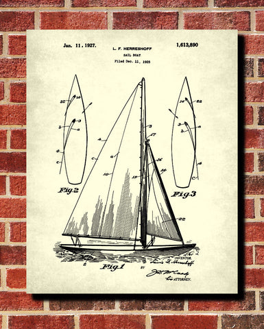 Sail boat blueprint art nautical patent print sailing poster sail boat blueprint art nautical patent print sailing poster ontrendandfab malvernweather