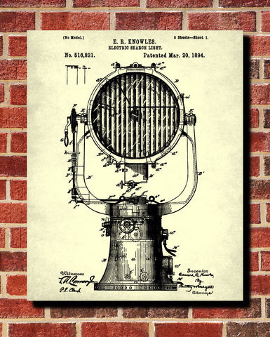 Search Light Patent Print Sailing Art Nautical Print - OnTrendAndFab
