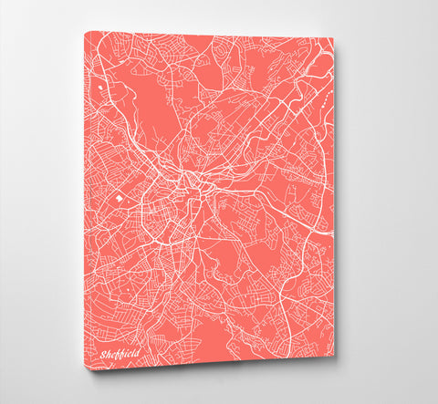 Sheffield City Street Map Print Modern Art Poster Home Decor - OnTrendAndFab