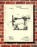 Singer Sewing Machine Patent Print Wall Art Poster - OnTrendAndFab