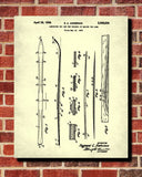 Skis Patent Print Skiing Blueprint Winter Sports Poster - OnTrendAndFab