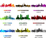 Boston Print City Skyline Wall Art Poster Massachusetts USA - OnTrendAndFab