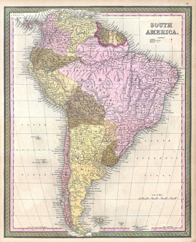 South America Map Print Vintage Poster Old Map as Art - OnTrendAndFab