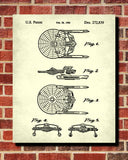 USS Enterprise Patent Print Star Trek Blueprint Spaceship Poster - OnTrendAndFab