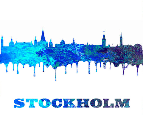Stockholm City Skyline Print Wall Art Poster Sweden - OnTrendAndFab